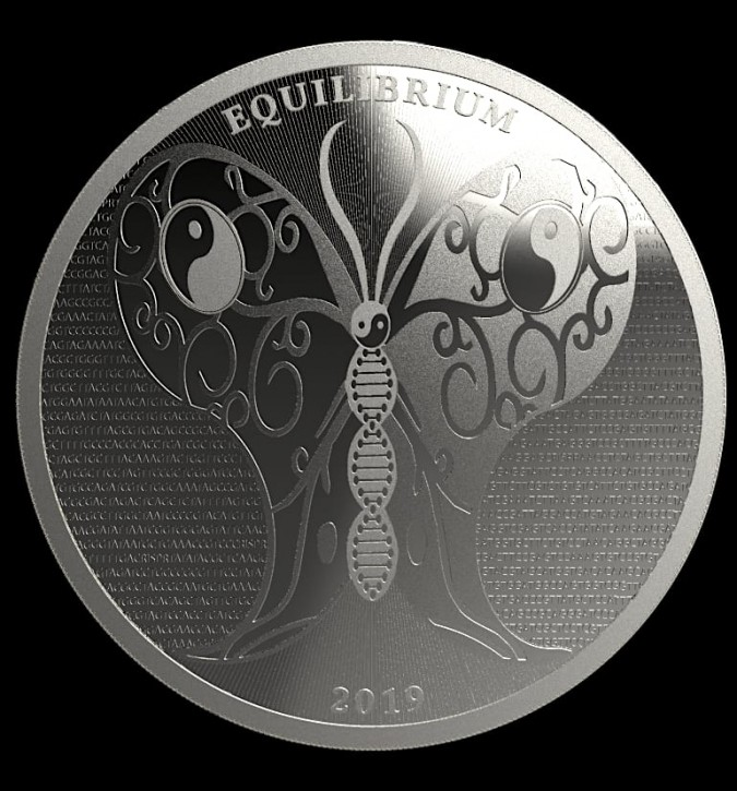 """1 oz Silber Tokelau """" Equilibrium 2019 """" BU - zweite Ausgabe ( diff.besteuert nach §25a UStG )"""