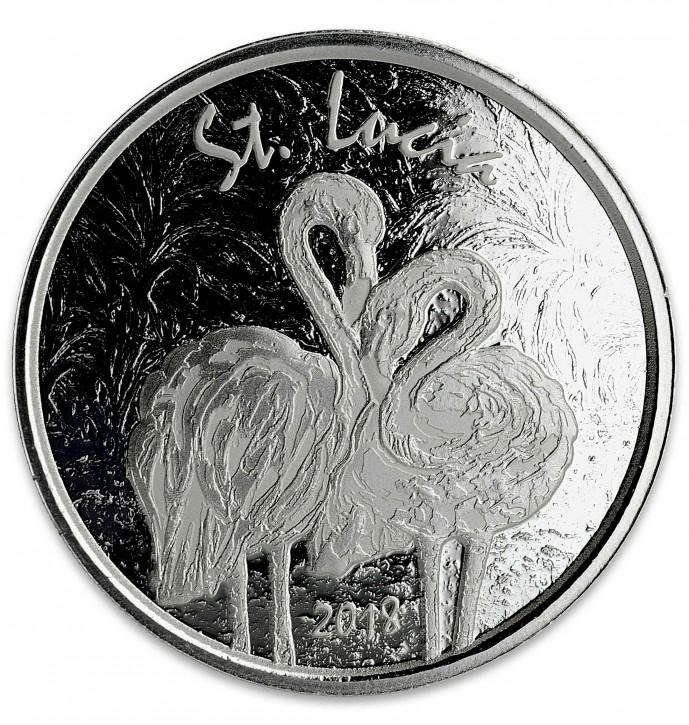 "1 oz Silber St. Lucia "" Flamingo "" Scottsdale Mint / Prooflike in Kapsel ( diff.besteuert nach §25a UStG )"