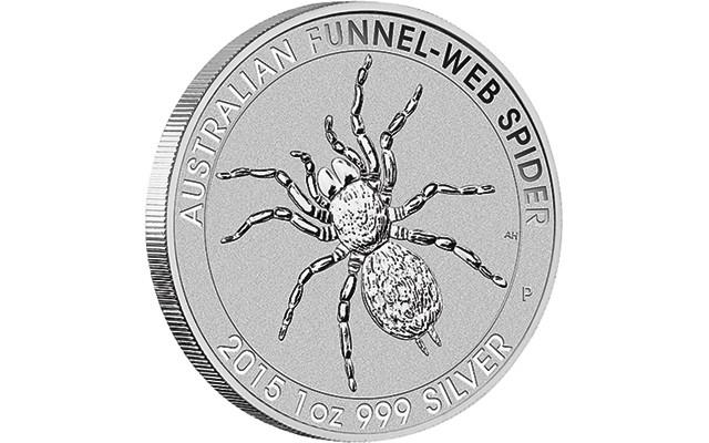 1 oz Silber Perth Mint Trichternetzspinne / Funnel-Web Spider ( diff.besteuert nach §25a UStG )