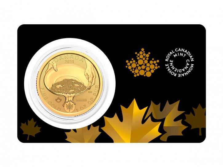 1 oz Gold 99999 Canada Klondike Panning for Gold / Goldrush in Blister / inkl. Sicherheitsmerkmal ( 5 X 9 Gold )