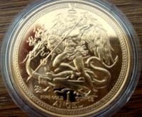 "1/2 oz Gold Isle of man "" Angel ""  in Kapsel"