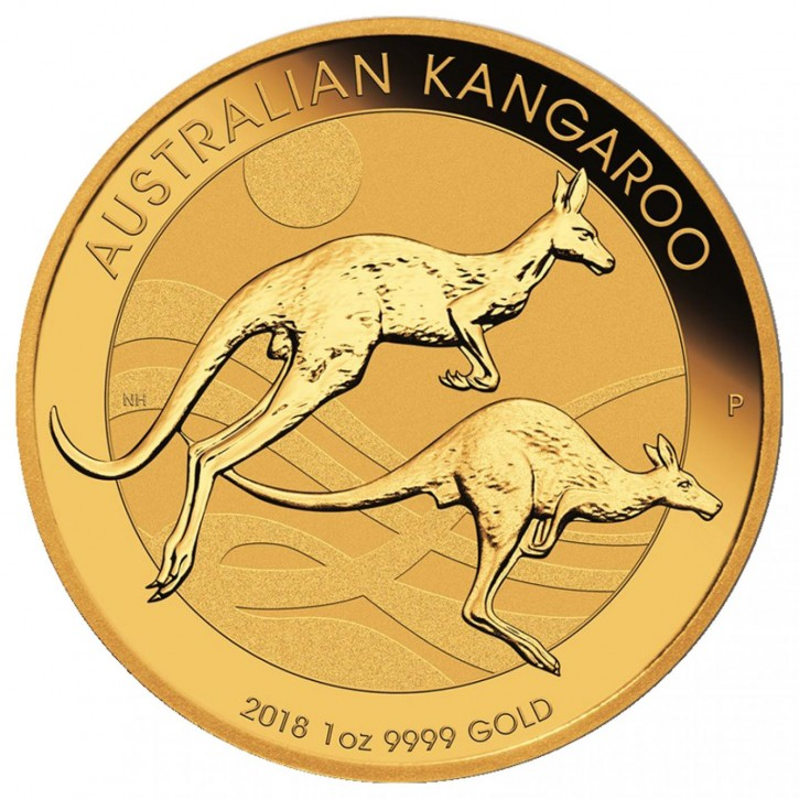 1/10 oz Gold Känguru 2018 in Kapsel