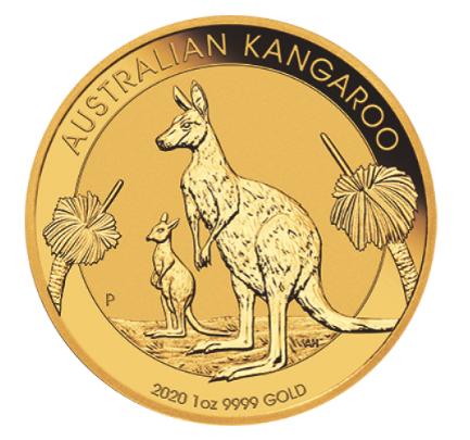 1 oz Gold Känguru 2020 in Kapsel