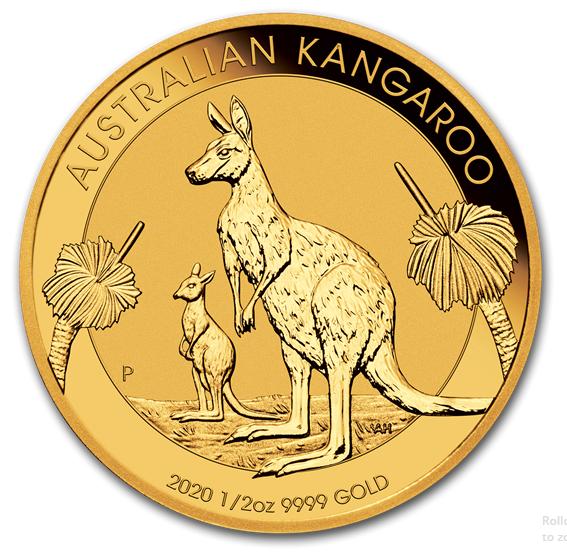 1/2 oz Gold Känguru 2020 in Kapsel