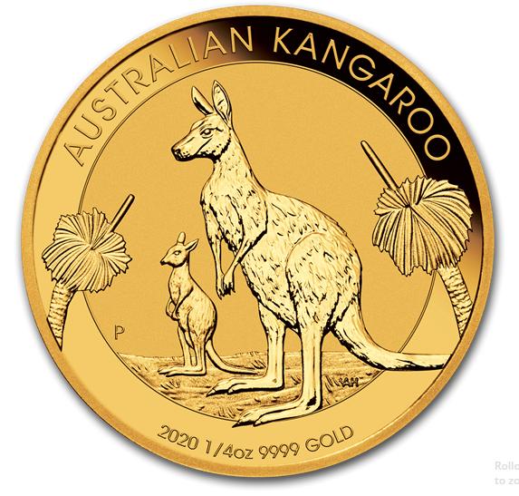 1/4 oz Gold Känguru 2020 in Kapsel