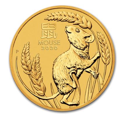 "1 oz Gold Perth Mint "" Lunar Maus III 2020 "" in Kapsel - max. Auflage 30.000"