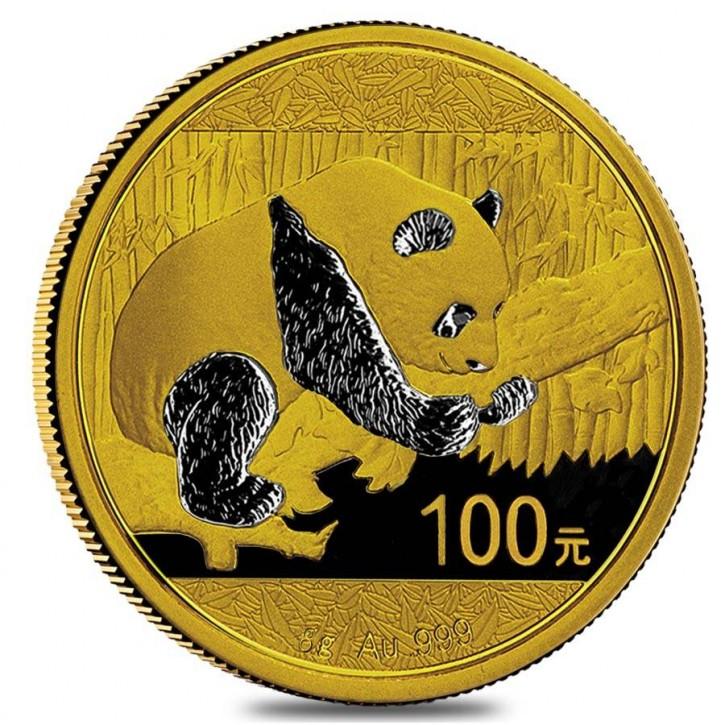 8 Gramm Gold Panda 2016 in Folie - 100 Yuan
