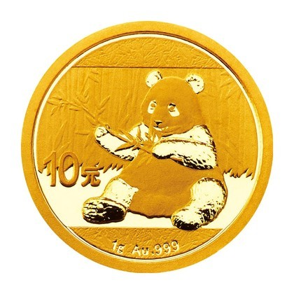 1 Gramm Gold Panda 2017 in Folie - 10 Yuan