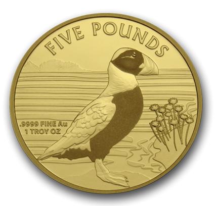 """1 oz Gold  Alderney 2019 """" Puffin / Papageientaucher """" max. Mintage 100"""