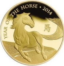 1 oz Gold Lunar Horse Grossbritannien 2014