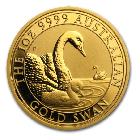 """1 oz Gold Perth Mint """" Schwan 2019 """" in Kapsel"""