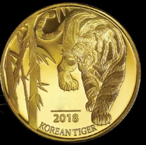1 oz Gold Korean Tiger 2018 inkl. Box ( Komsco ) - LZ Mitte Ende Juli