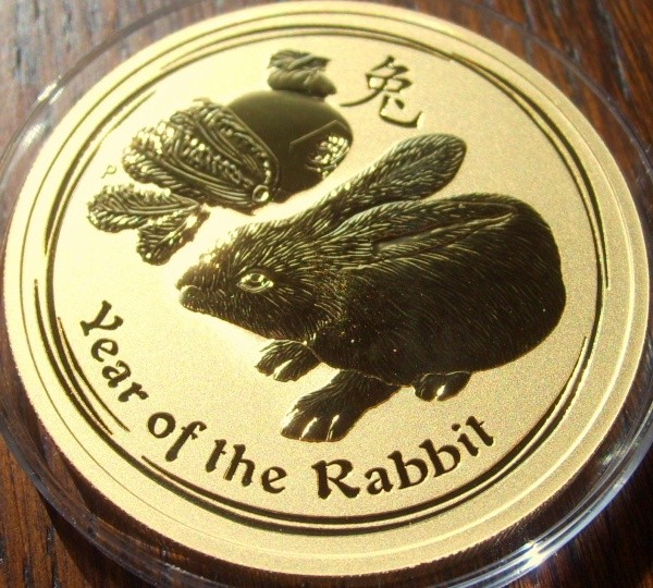 1/2 Gold Lunar II Hase 2011 in Kapsel ( Perth Mint )