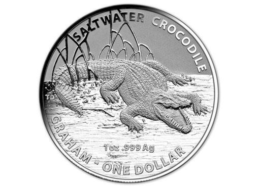 1 oz Silber Australian Saltwater Crocodiles Graham in Blister ( Royal Australien Mint ) ( diff.besteuert nach §25a UStG )