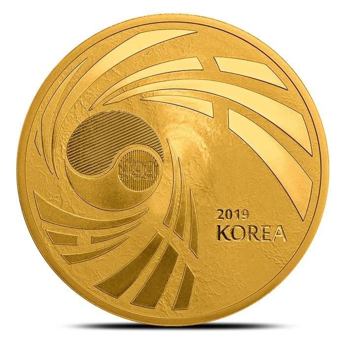 "1 oz Gold Südkorea "" Peninsula "" - geprägt bei Komsco"
