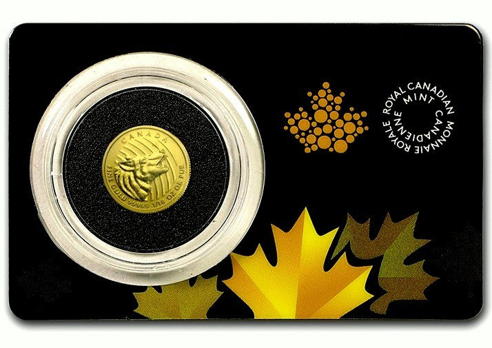 "1/10 oz Gold Royal Canadian Mint "" Howling Wolf """