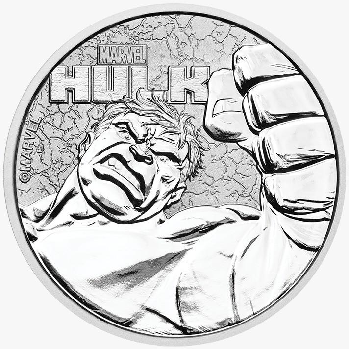 """1 oz Silber Perth Mint """" Hulk - Marvel Comics """" in Kapsel ( diff.besteuert nach §25a UStG )"""