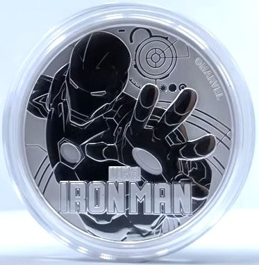 "1 oz Silber Perth Mint "" Ironman - Marvel Comics "" in Kapsel - max Mintage 50.000 ( diff.besteuert nach §25a UStG ) - VVK"