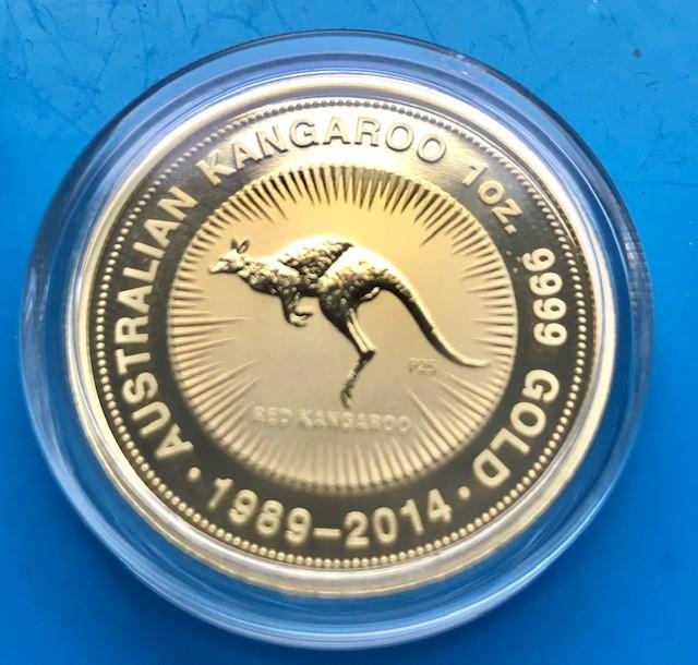 1 oz Gold Känguru ( 1989 - 2014 ) 25 Jahre Jubiläumsausgabe