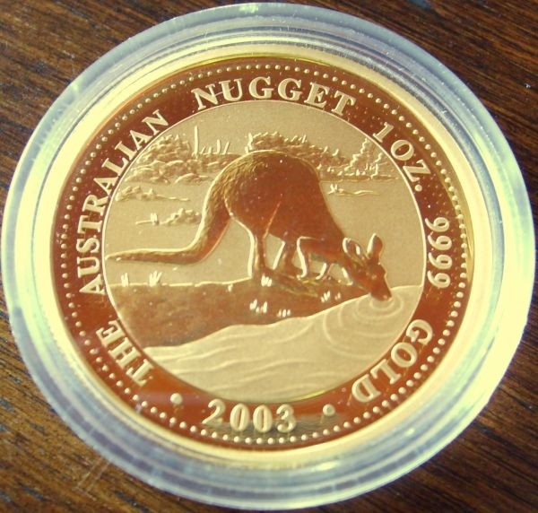 1/4 oz Gold Känguru 2003 in Kapsel