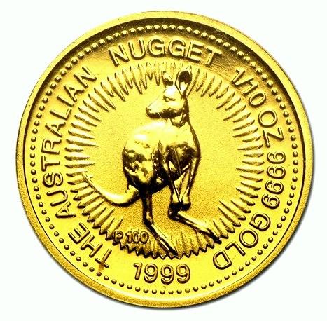 1/10 oz Gold Känguru 1999 in (Ersatz)Kapsel - Perth Mint