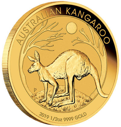 1/2 oz Gold Känguru 2019 in Kapsel