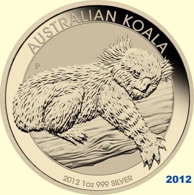 1/2 oz Silber Koala 2012 ( diff.besteuert nach §25a UStG )