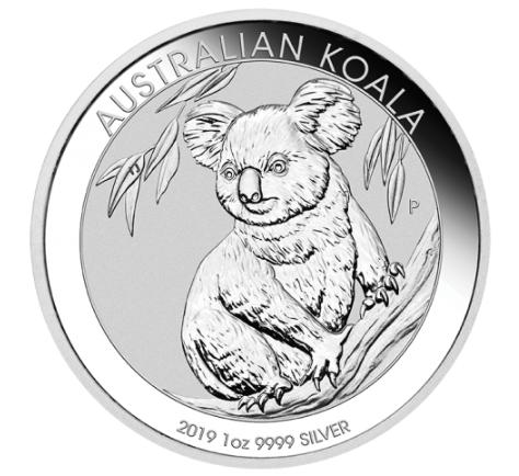 1 oz Silber Koala 2019 in Kapsel ( diff.besteuert nach §25a UStG )