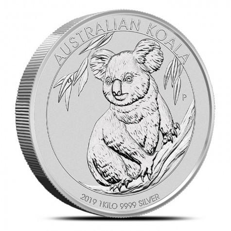 1 Kilogramm / 1000 Gramm Silber Koala 2019 ( diff.besteuert nach §25a UStG )