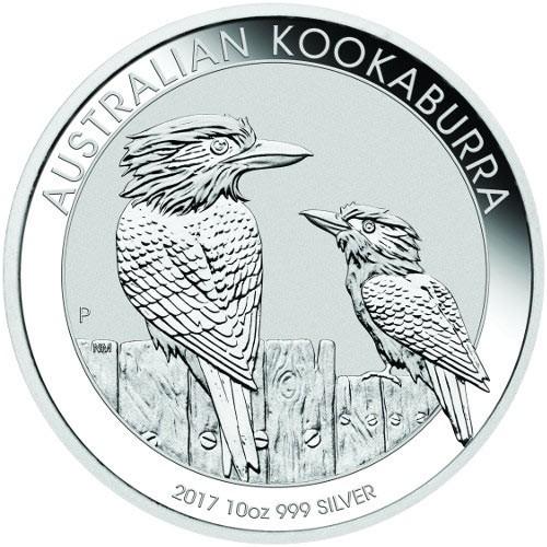 10 oz Silber Kookaburra 2017 in Kapsel  ( diff.besteuert nach §25a UStG )