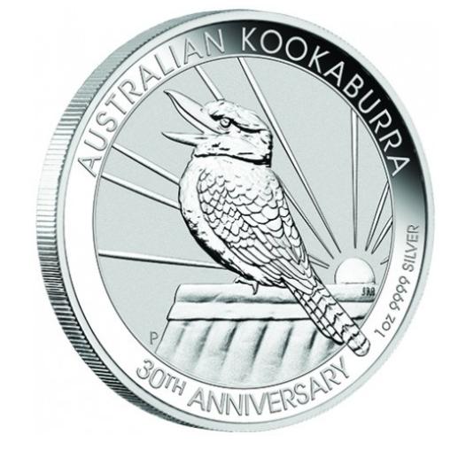 1 oz Silber Kookaburra 2020 in Kapsel - Jubiläumsausgabe( diff.besteuert nach §25a UStG )
