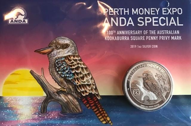 "1 oz Silber Kookaburra "" Square Penny 2019 "" in Blister - max. 2000 Stk ( diff.besteuert nach §25a UStG )"