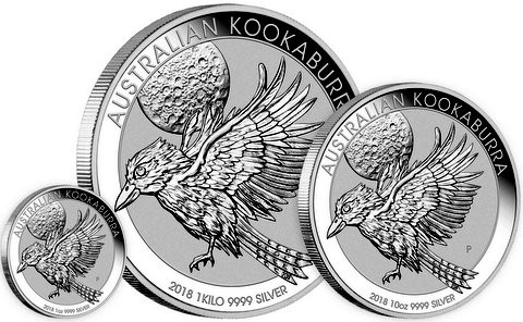 10 oz Silber Kookaburra 2018 in Kapsel  ( diff.besteuert nach §25a UStG )