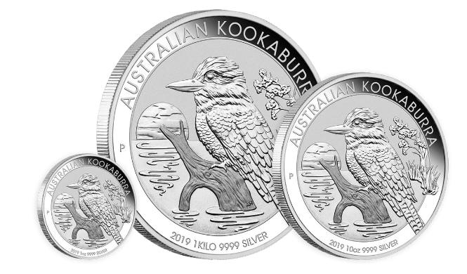 10 oz Silber Kookaburra 2019 in Kapsel  ( diff.besteuert nach §25a UStG )