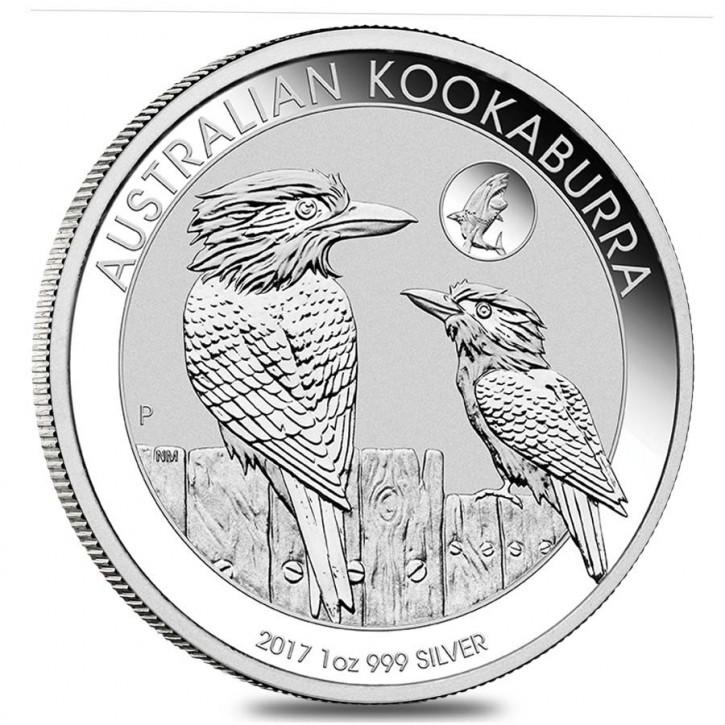 "1 oz Silber Kookaburra 2017 "" Privy Mark Shark / Hai "" in Kapsel ( diff.besteuert nach §25a UStG )"