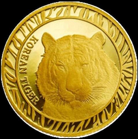 1 oz Gold Korean Tiger 2016 inkl. Box ( Komsco ) - LZ Mitte April