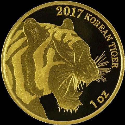 1 oz Gold Korean Tiger 2017 inkl. Box ( Komsco ) - LZ Mitte April