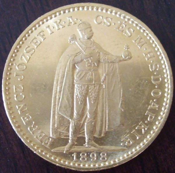 100 Kronen Ungarn Neuprägung ( 30,48 Gramm Gold fein )