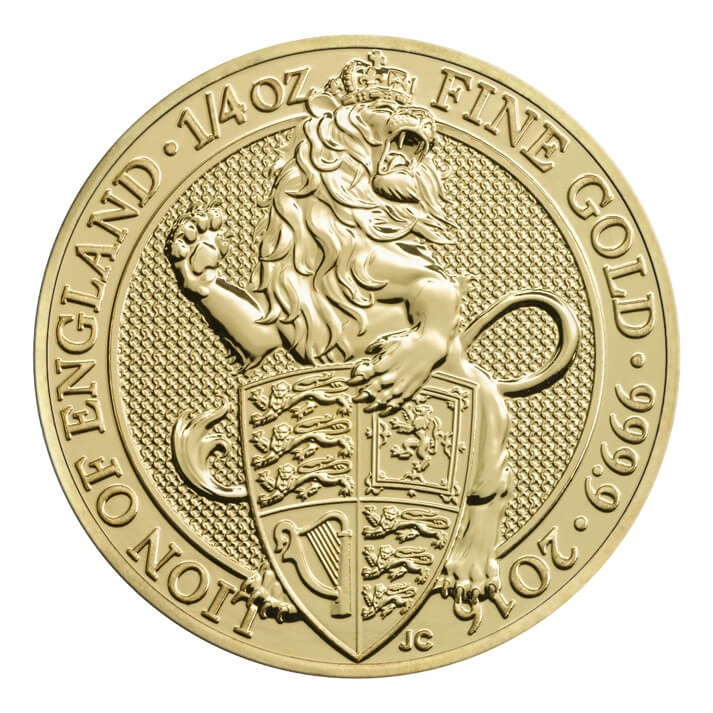 "1/4 oz Gold Royal Mint / United Kingdom "" Lion of England """