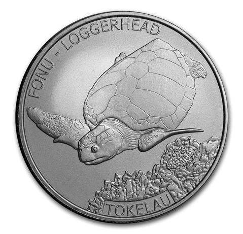 "1 oz Silber Tokelau "" Loggerhead Turtle 2019 "" BU ( diff.besteuert nach §25a UStG )"
