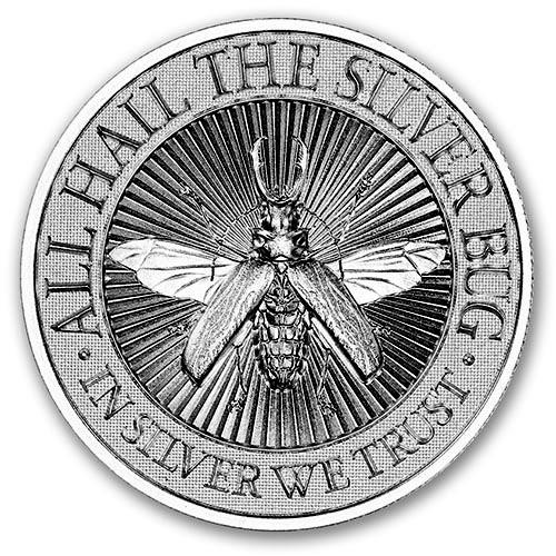 2 oz Silber USA Longhorn Beetle High Relief ( 19% Mwst )