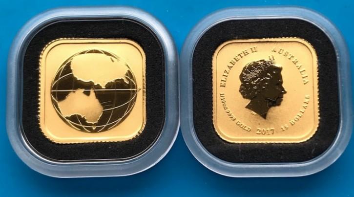 "1/10 oz Gold Perth Mint "" Map "" in Kapsel"