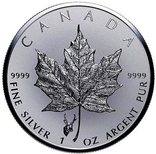 "1 oz Silber Maple Leaf Reverse Proof "" Privy Mark Antilope  "" / Auflage max. 50.000 ( diff.besteuert nach §25a UStG )"