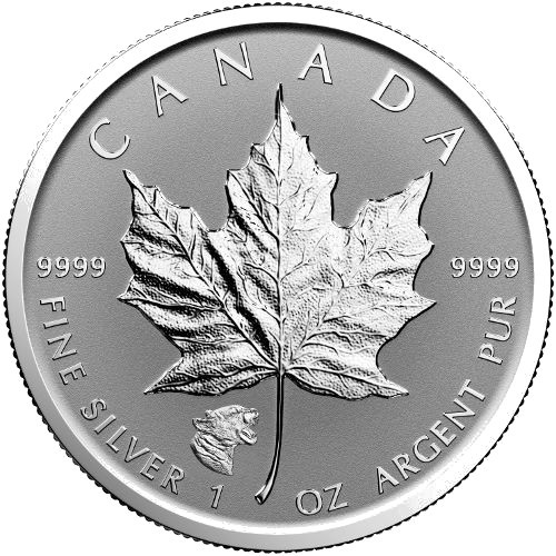 "1 oz Silber Maple Leaf Reverse Proof "" Privy Mark Puma  "" / Auflage max. 50.000 ( diff.besteuert nach §25a UStG )"