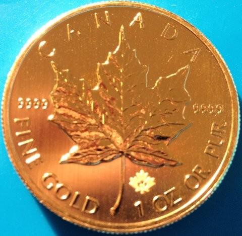 1 oz Gold Maple Leaf  2016/17 ( inkl. Sicherheitshologramm )