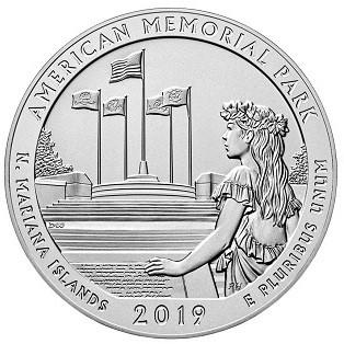 "5 oz Silber USA "" America the beautiful "" American Memorial Park - Mariana Islands ( diff.besteuert nach §25a UStG )"