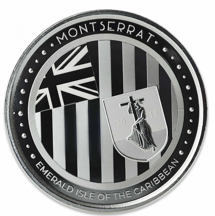 "1 oz Silber Montserrat "" Emerald Isle of the Caribbean "" Scottsdale Mint / Prooflike in Kapsel ( diff.besteuert nach §25a UStG )"