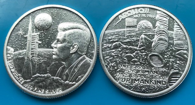 1 oz Silber USA Moonlanding / Apollo 11 ( 19% Mwst )