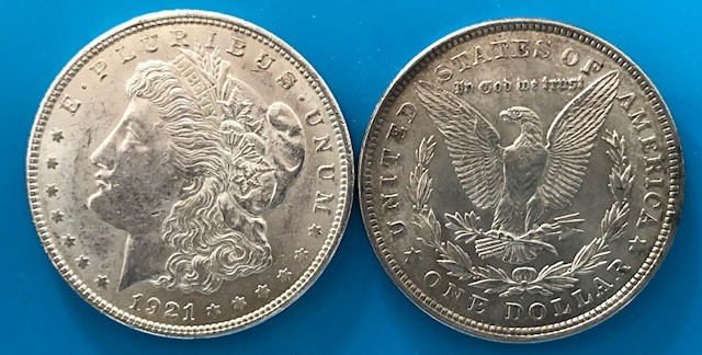 Morgan Silber Dollar ( average circulated ) ( diff.besteuert nach §25a UStG )