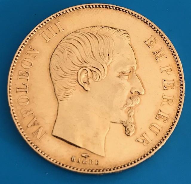 50 Francs Frankreich Napoleon  ( 14,52 Gramm Gold fein )